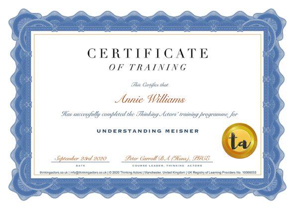 Amalannie Certificate